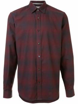 Gieves & Hawkes клетчатая рубашка с длинными рукавами G4065E109079