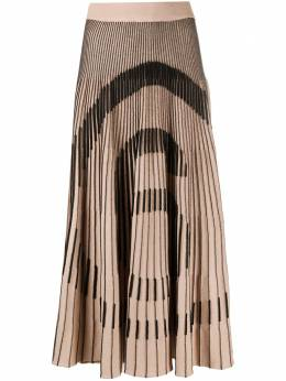 Mm6 Maison Margiela плиссированная юбка миди с логотипом S52MA0097S17382