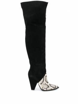 Just Cavalli snakeskin-effect knee-high boots S09WW0039P3487