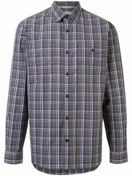 Gieves & Hawkes клетчатая рубашка с накладным карманом G4065E124087