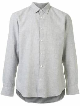 Gieves & Hawkes фланелевая рубашка с заостренным воротником G4065E143091