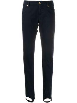 Moschino Pre-Owned джинсы 1990-х годов кроя слим с ремешками MOSC250HI