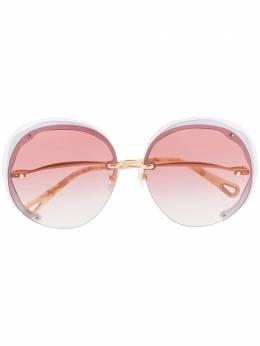 Chloe Eyewear затемненные солнцезащитные очки в массивной оправе CE174S