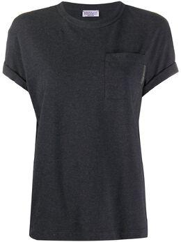 Brunello Cucinelli футболка с круглым вырезом и карманом M0T18BB300C055