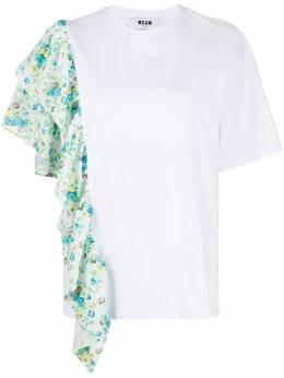 MSGM рубашка с оборками и цветочным принтом 2943MDM69207648