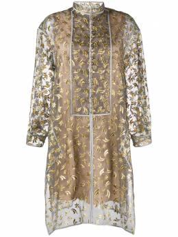 Maison Rabih Kayrouz платье-рубашка с вышивкой H19SD1122J