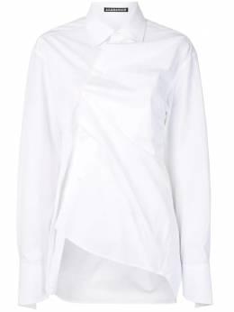 Aganovich длинная рубашка с драпировкой SH06AW20WHITE