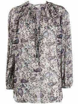 Isabel Marant Etoile блузка оверсайз с принтом пейсли HT178620A042E
