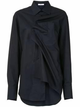 Aganovich длинная рубашка с драпировкой SHO6AW20BLK