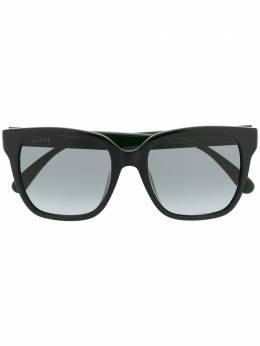 Gucci Eyewear солнцезащитные очки в квадратной оправе с отделкой Web GG0715SA001