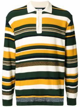 Coohem полосатая рубашка поло с длинными рукавами 20204006