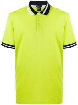 Boss Kids рубашка поло с отделкой в полоску 50429987