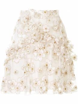 Macgraw юбка мини Souffle из органзы с вышивкой LF005I