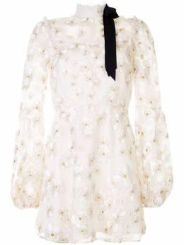 Macgraw платье мини Corsage из органзы с вышивкой LF001I