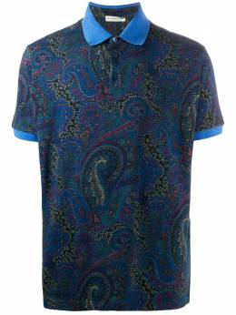 Etro рубашка поло с принтом пейсли 1Y8005588