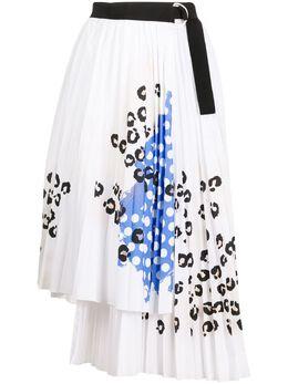 Ermanno Ermanno Scervino плиссированная юбка с принтом 46TGN26POP