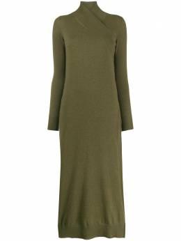 Agnona платье с запахом на воротнике KR000380F140A