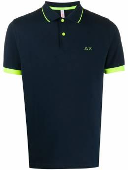 Sun 68 рубашка поло с вышитым логотипом A30114