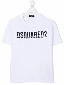 Dsquared2 Kids футболка с логотипом из пайеток DQ04BUD00MMD2T566F