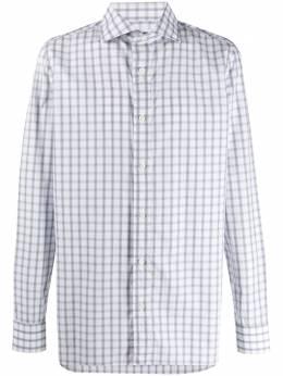 Borrelli клетчатая рубашка с длинными рукавами FABIOWASHED8596