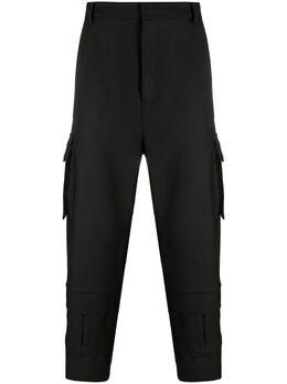 Les Hommes брюки карго с завышенной талией LJP122313U