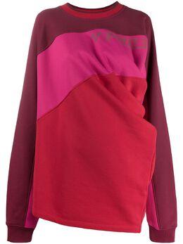 Y / Project свитер с контрастными вставками и драпировкой SWEAT24S19J33