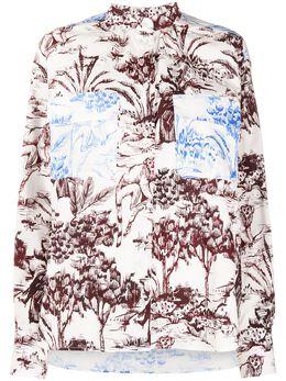 MSGM рубашка с контрастной вставкой 2943MDE10Y207624