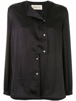 Portspure рубашка свободного кроя с асимметричным воротником RL7B009KWP065BLACK