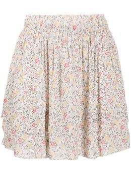 Ganni юбка с цветочным принтом F4885