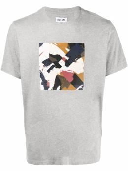 Kenzo футболка с абстрактным принтом FA65TS0104SJ