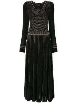 Ginger & Smart трикотажное платье в полоску с блестками W20522