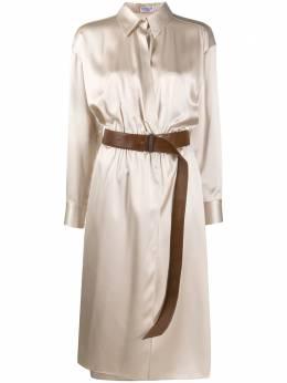 Brunello Cucinelli платье-рубашка с поясом MH142A4639C8553