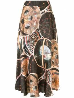 Ginger & Smart юбка с абстрактным принтом W20410B