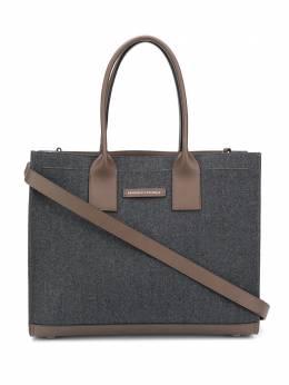 Brunello Cucinelli двухцветная сумка-тоут MB26D2243C004