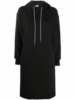 Moncler платье-худи с вышитым логотипом F20938I71400V8144