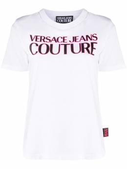 Versace Jeans Couture футболка с короткими рукавами и логотипом EB2HZA7KFE30327