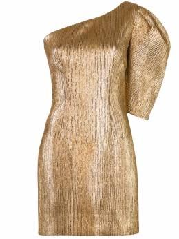 Ginger & Smart платье на одно плечо с эффектом металлик W20538A