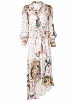Ginger & Smart платье с абстрактным принтом и запахом W20545A