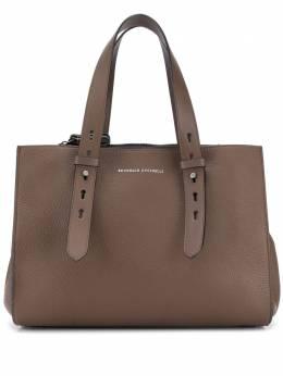 Brunello Cucinelli сумка-тоут из зернистой кожи с логотипом MBVND2177C7891