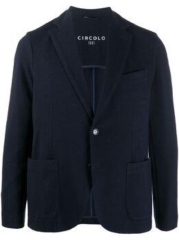 Circolo 1901 фактурный пиджак с заостренными лацканами CN2861