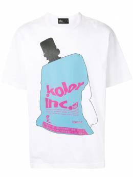 Kolor футболка с графичным принтом 20WCMT04203