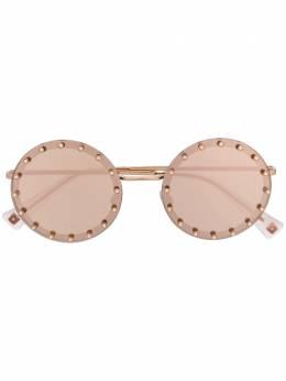Valentino Eyewear солнцезащитные очки в круглой оправе VA2010B3058E0