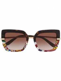 Dolce&Gabbana Eyewear массивные солнцезащитные очки с принтом DG4373327813