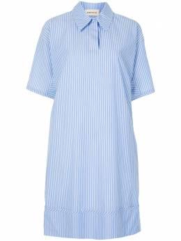 Portspure платье-рубашка в тонкую полоску RL7D005KFD095BLUESTRIPE