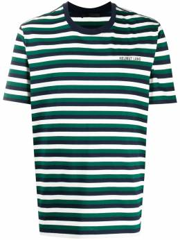 Helmut Lang полосатая футболка с логотипом K05HM503Z82