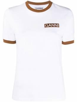 Ganni футболка с короткими рукавами и логотипом T2590