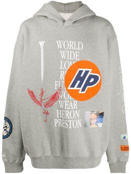 Heron Preston худи оверсайз с графичным принтом HMBB011F20JER0010901