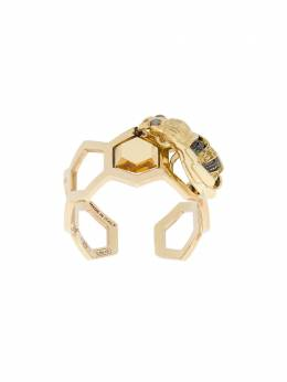 Delfina Delettrez 9kt yellow gold To Bee or Not To Be open ring GRD1029A