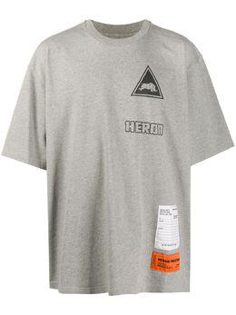 Heron Preston футболка с нашивкой-логотипом HMAA019F20JER0120910