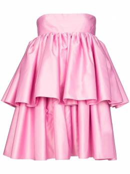 Rotate ярусное платье мини Carmina с оборками 901292